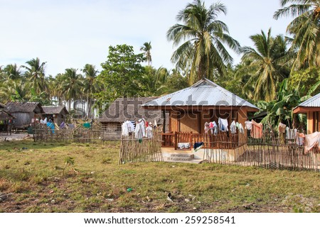 Traditional village of Palawan, in the Philippines - stock photo