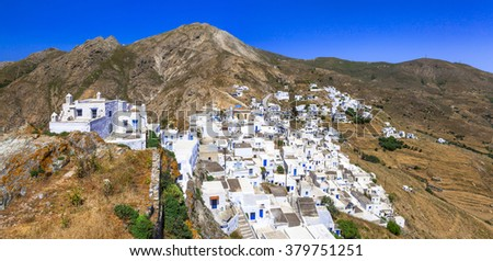 traditional villages of Greece - Serifos island, Cyclades - stock photo