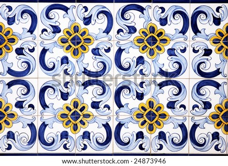 Traditional vintage ceramics, Spain - stock photo