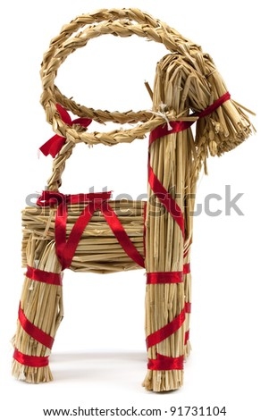 Traditional vintage scandinavian christmas decoration, fertility symbol - stock photo