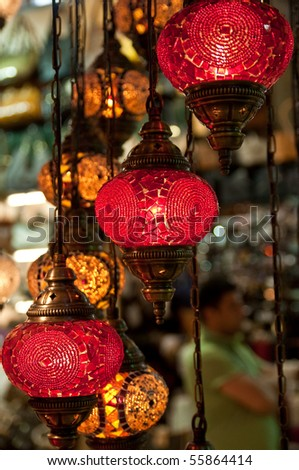 Traditional Vintage Turkish Lamp - stock photo