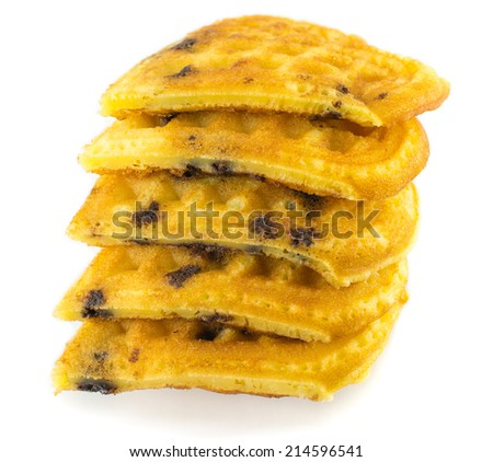 Traditional  waffles - stock photo