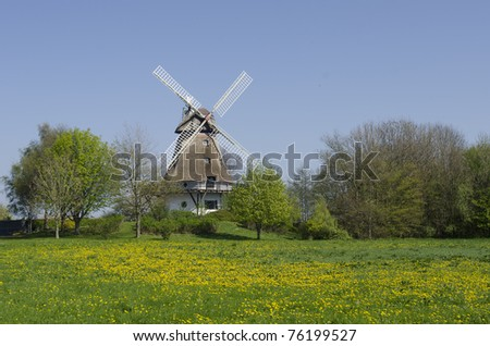traditional windmill in schleswig-holstein, Germany