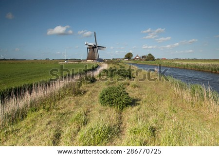 Traditional windmill landscape