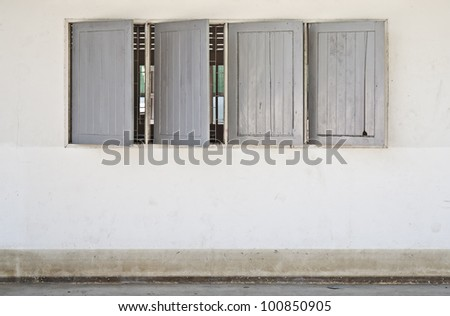 Traditional windows in Thailand - stock photo