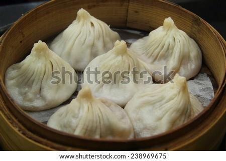 Traditional Xiao Long Bao food in Shanghai (China� - stock photo