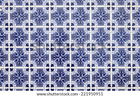 Traditionell blue portuguese tiles - stock photo