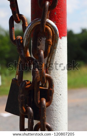 Traffic barrier - stock photo