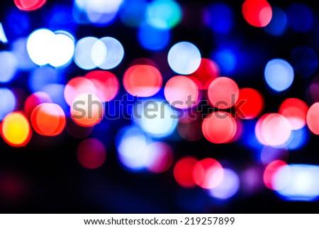 Traffic bokeh light background - stock photo