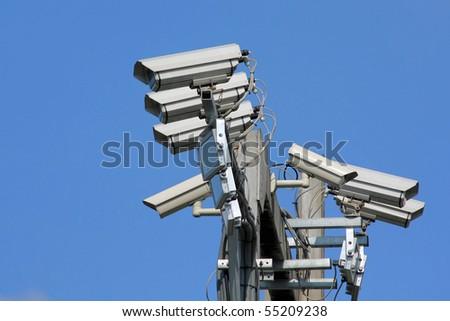 traffic cameras - stock photo