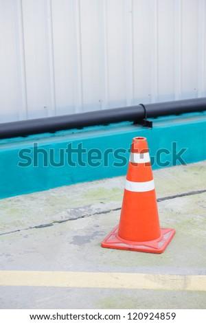 Traffic cone - stock photo