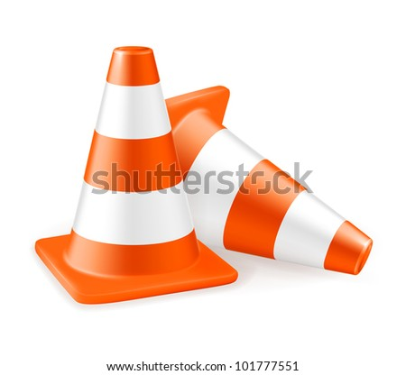 Traffic cone, bitmap copy - stock photo
