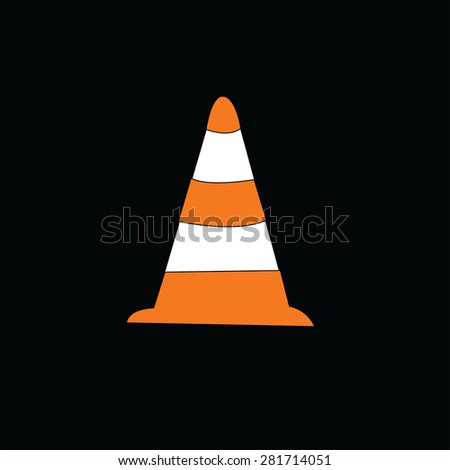 Traffic cone icon. - stock photo