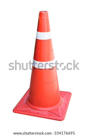 Traffic cone isolated on white background