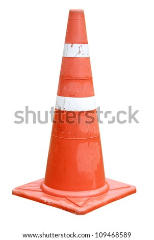traffic cone,isolated - traffic cone on a white background - Traffic cone for road works isolated on white background - stock photo