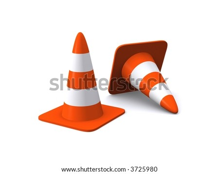 Traffic Cones - stock photo