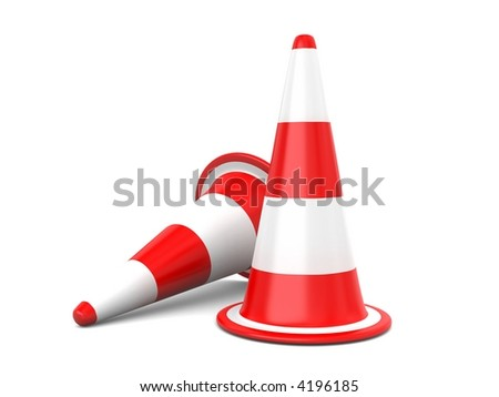 Traffic Cones isolated on white