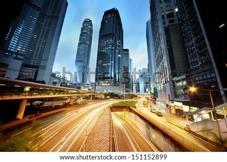 traffic in Hong Kong - stock photo