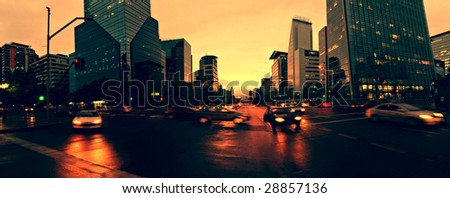 Traffic in Santiago Chile