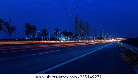 traffic light at expressway - stock photo