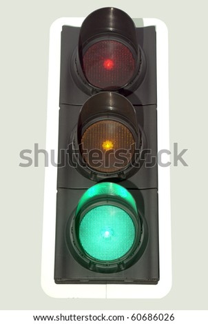 Traffic light at green