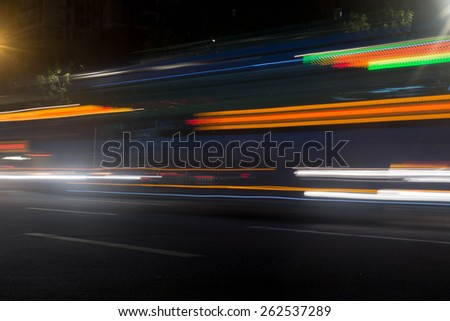 Traffic light at night