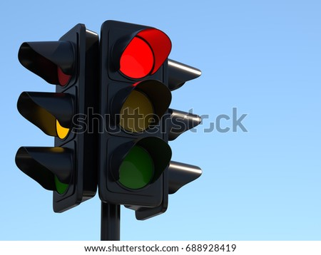 Traffic Light 3d illustration