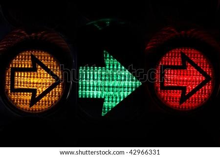 traffic light detail - stock photo