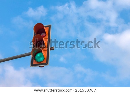 Traffic light green - stock photo