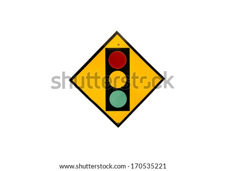 Traffic light icon vector,road traffic sign  - stock photo