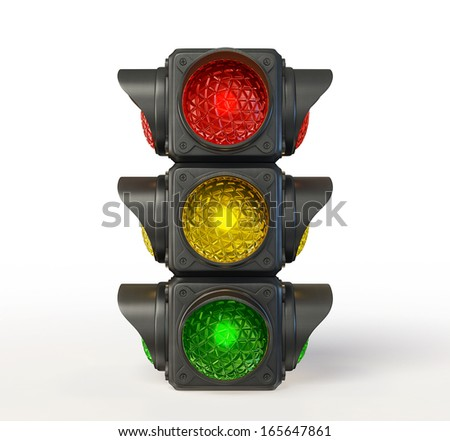 traffic light isolated on a white background