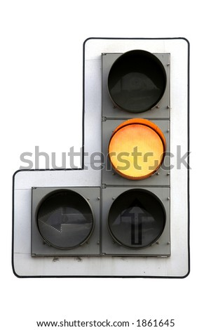 Traffic light, isolated on white - stock photo