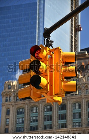 Traffic light. NYC - stock photo