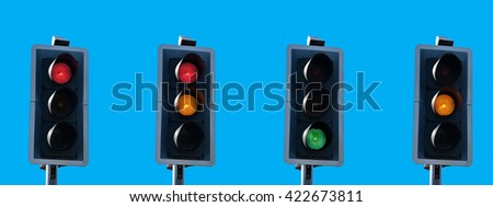 Traffic light sequence as in the United Kingdom.