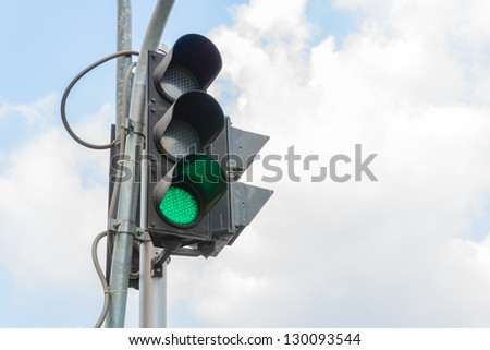 traffic light with bluesky