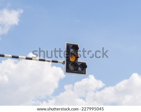 Traffic light : Yellow light - stock photo