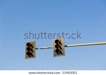 Traffic lights. - stock photo
