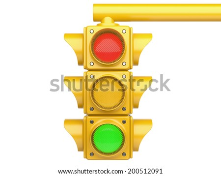 Traffic lights. 3d image isolated on a white background - stock photo