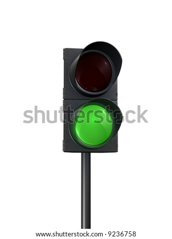 traffic lights green front view