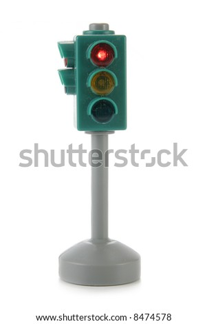 Traffic lights isolated over white background