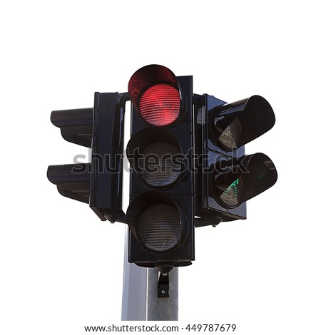 traffic lights with Stop sign, isolated on white. Traffic lights. Traffic lights. Traffic lights. Traffic lights. Traffic lights. Traffic lights. Traffic lights. Traffic lights. Traffic lights. lights - stock photo