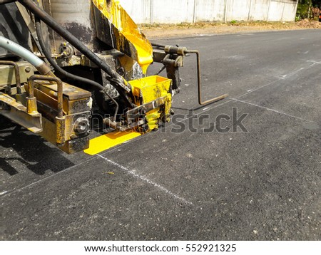 Traffic line painting . Road Vehicles.