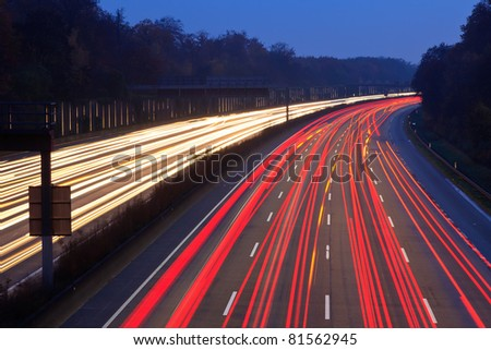Traffic on highway - stock photo