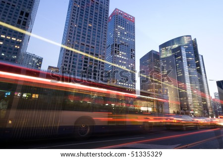 Traffic on sunset - stock photo