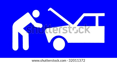 Traffic pictogram - stock photo