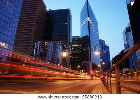traffic road by night-4 - stock photo