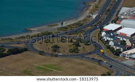 Traffic Roundabout - stock photo