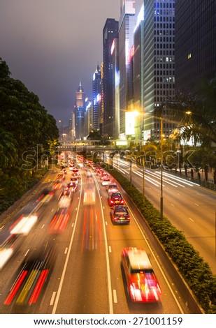 office towers in wan chai district on hong kong island hong kong sar