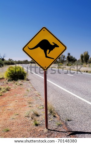 Traffic Sign beside the Street - stock photo