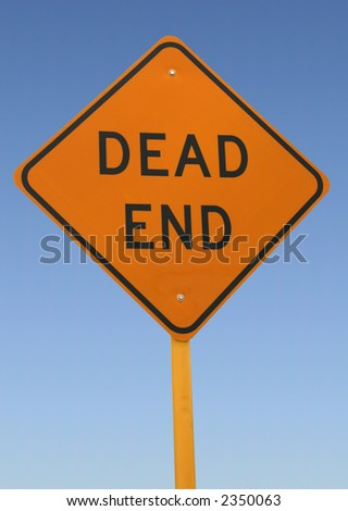Traffic Sign - Dead End - stock photo